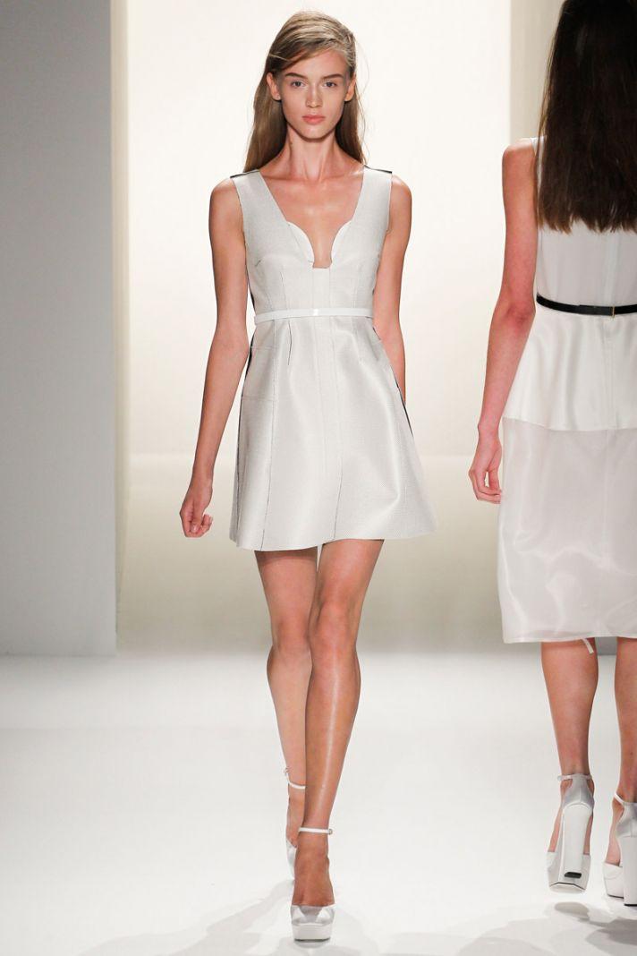 catwalk to white aisle wedding style inspiration for brides New York Fashion Week Calvin Klein 2