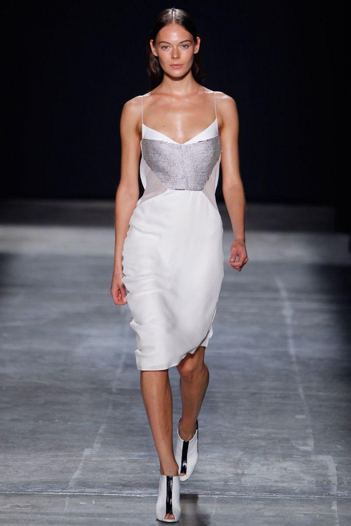catwalk to white aisle wedding style inspiration for brides New York Fashion Week Narciso Rodriguez