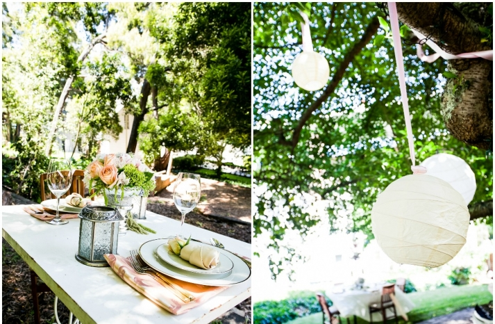 California wedding San Francisco mansion venue elegant bridal inspiration outdoor reception decor