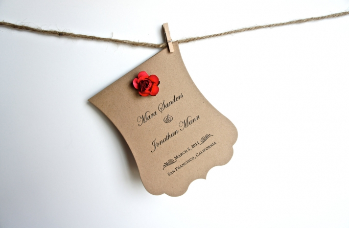 wedding invitation inspiration ceremony program weddings by Etsy eco friendly red rose