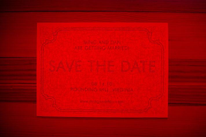 rad wedding save the date hidden message