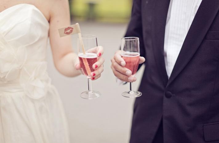 handmade wedding stationery decor using kraft paper Etsy weddings drink stir