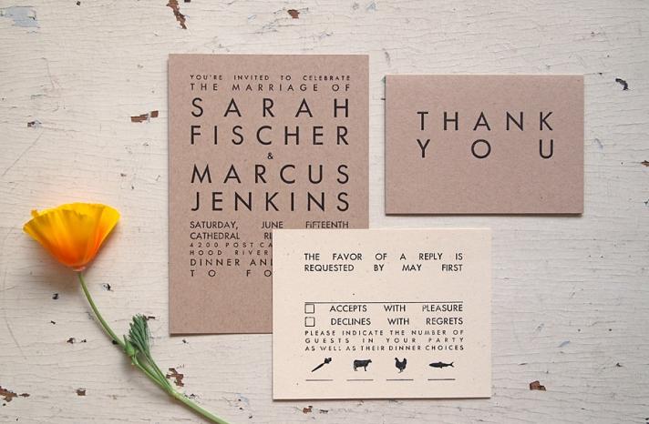 handmade wedding stationery decor using kraft paper Etsy weddings 11
