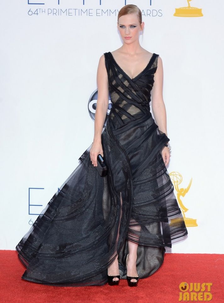 bridal beauty inspiration from 2012 Emmys January Jones dramatic