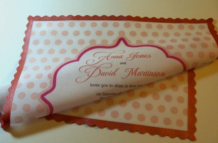 wedding inspiration from Etsy polka dots hanky invitations