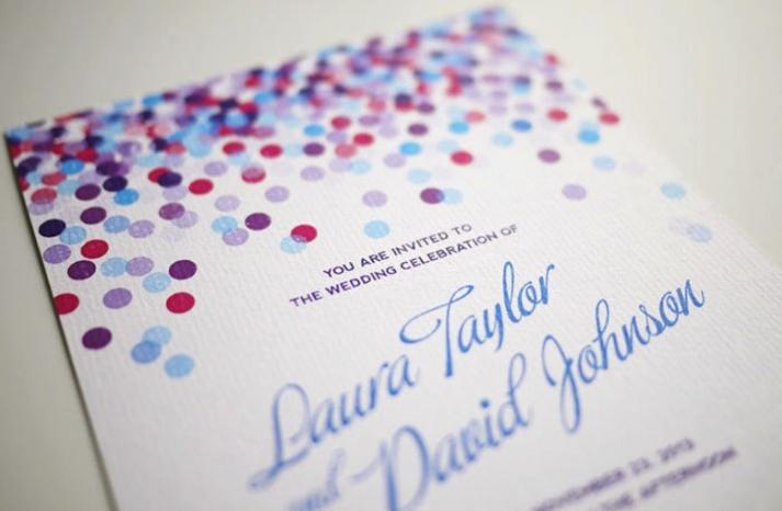 wedding inspiration from Etsy polka dots DIY invitation