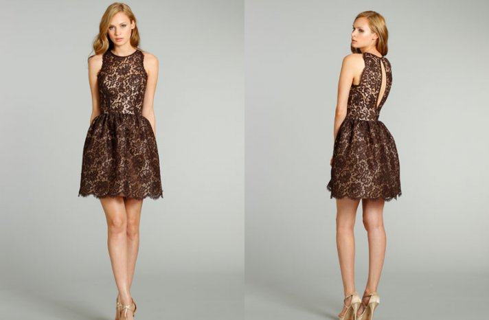 chic bridesmaid dresses from JLM couture bridals Noir by Lazaro 2