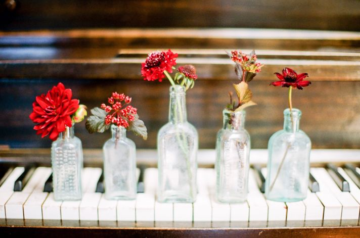 wedding flower inspiration by color red burgundy 5