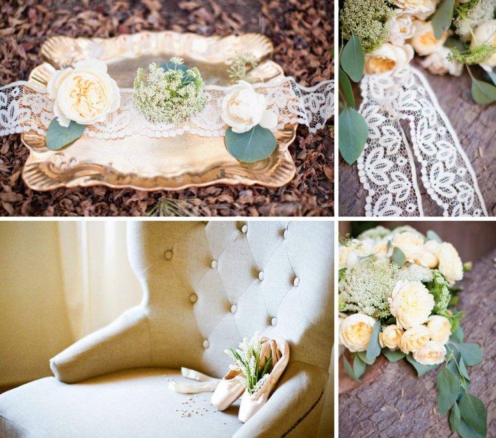 peach cream wedding flowers romantic bridal bouquet with lace