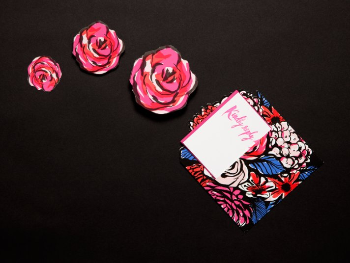 ladyfinger letterpress wedding invitations stationery rose stickers
