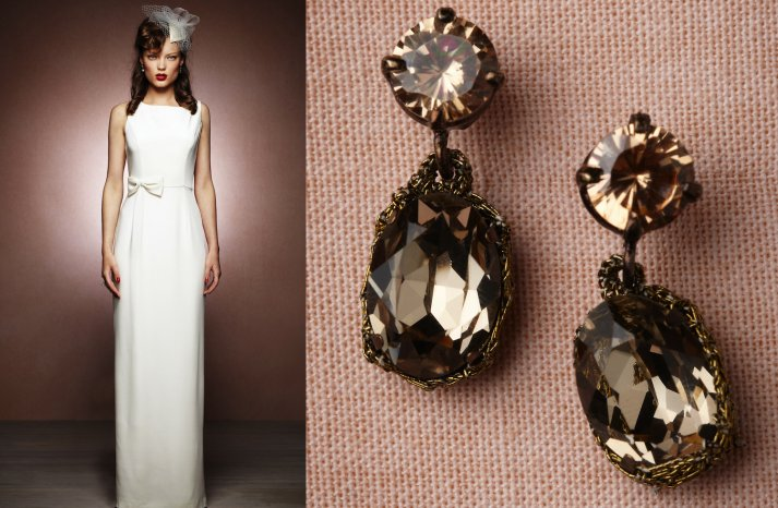 wedding jewelry for vintage brides BHLDN bridal earrings 1