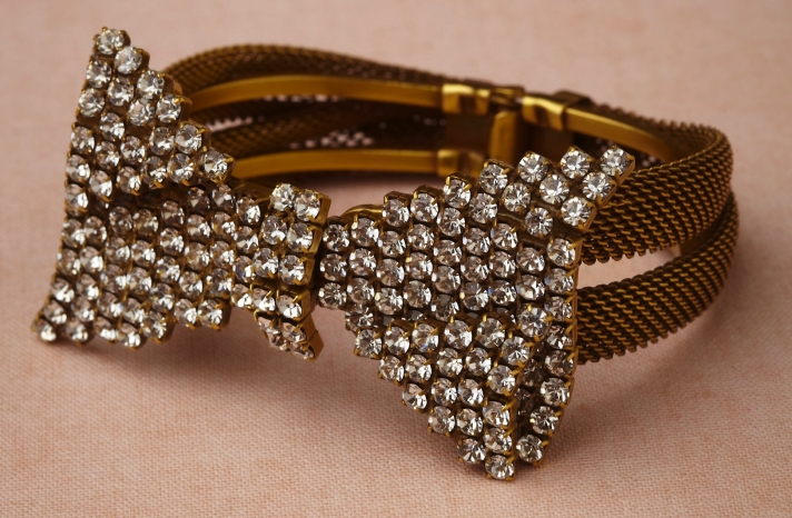 wedding jewelry for vintage brides BHLDN bridal bracelet bow