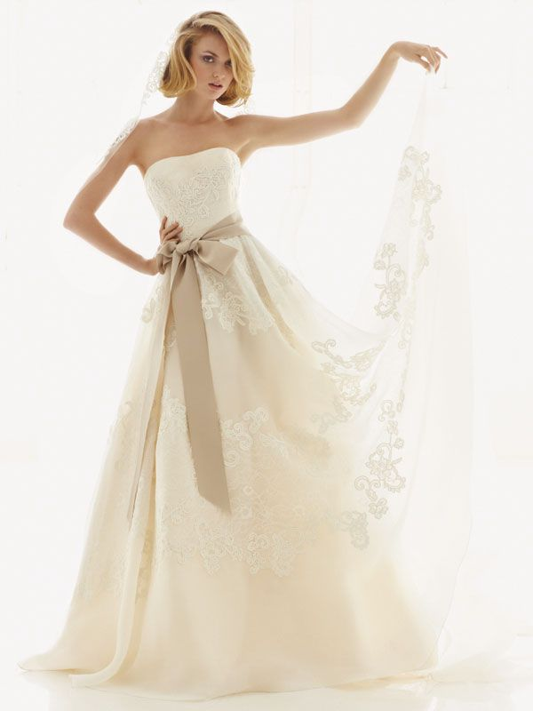 melissa sweet for davids bridal fall 2012 wedding dress bridal gown 251001 front
