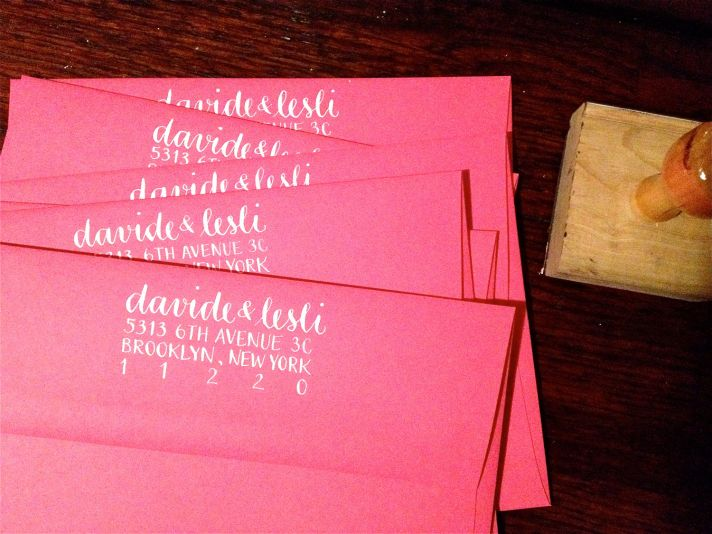5 easy ways to personalize the wedding DIY weddings calligraphy address stamp