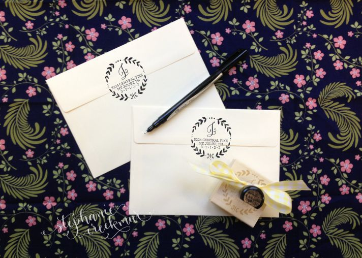 5 easy ways to personalize the wedding DIY weddings return address stamp 2