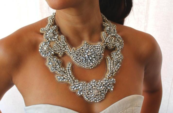 bejeweled bride wedding accessories statement necklace 2