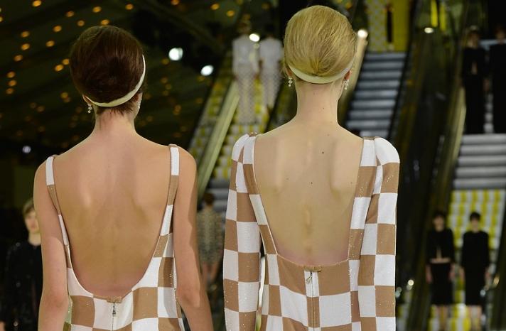 bridal updo wedding hair inspiration fashion week Louis Vuitton 7