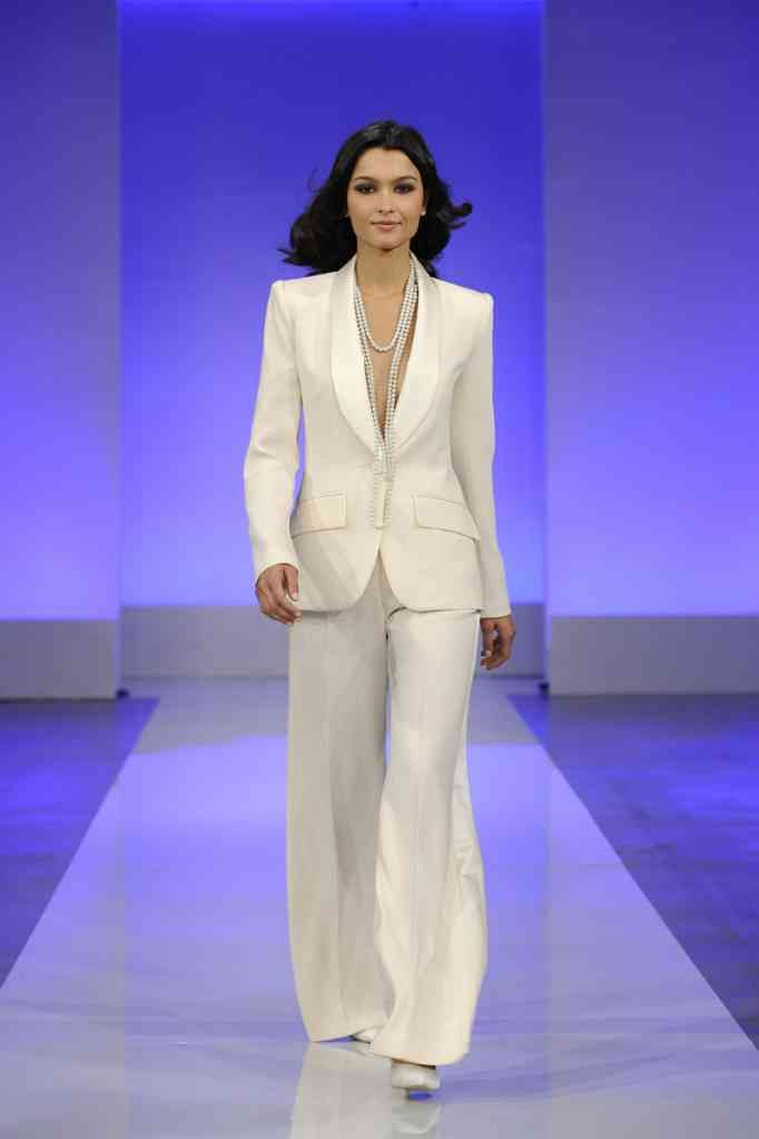 Luxury White Wedding Pant Suits For Women
