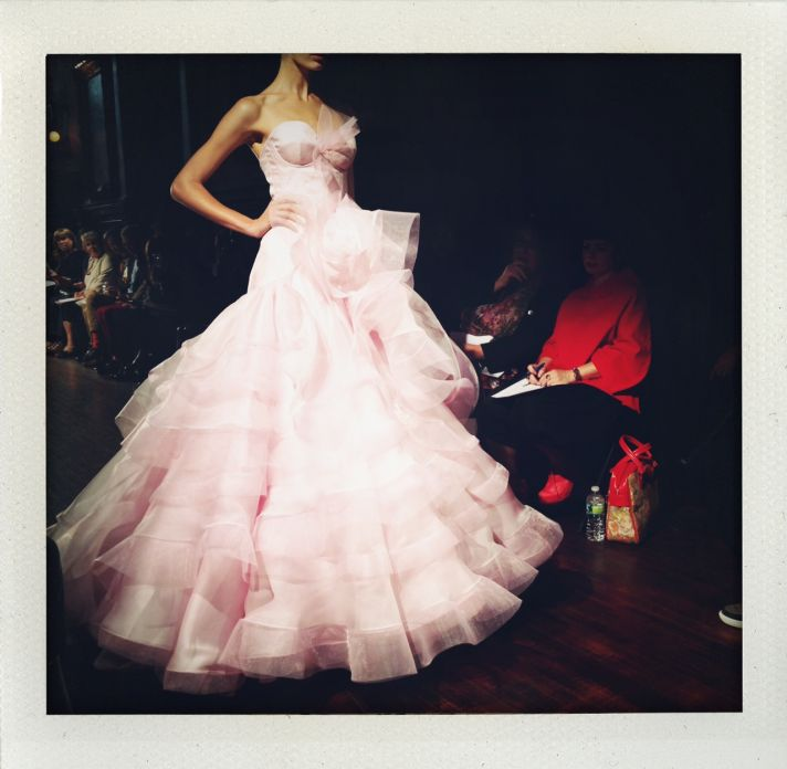 fall 2013 bridal market pink wedding dress