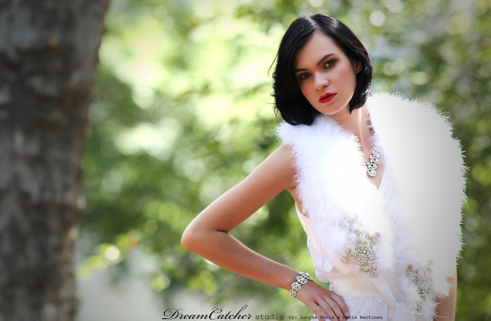 beautiful bridal boleros to top a simple wedding dress white feathers