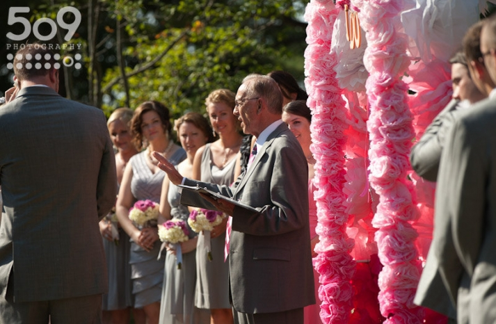 eco friendly wedding finds recycled on Etsy ceremony arch