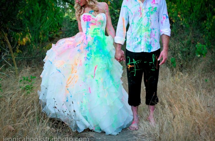 priceless wedding photography best of trash the dress neon paint