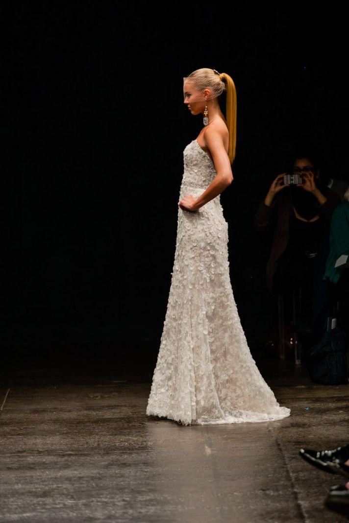 Spring 2013 wedding dress Lazaro bridal gowns 3311 side
