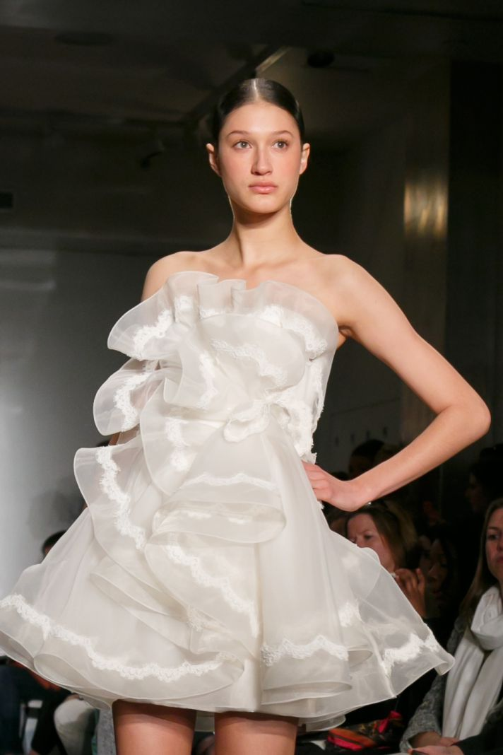Reem Acra wedding dress Fall 2013 bridal Natasha First Love detail