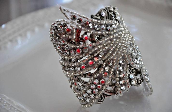 bridal cuff bracelet handmade wedding accessories 12