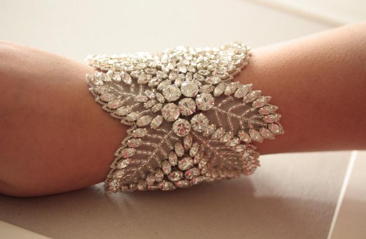 bridal cuff bracelet handmade wedding accessories 14