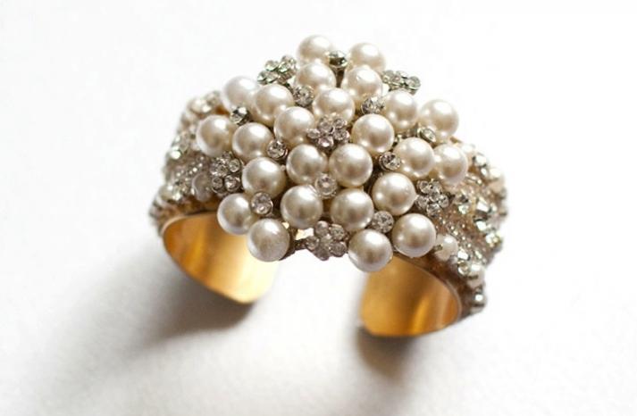bridal cuff bracelet handmade wedding accessories 18
