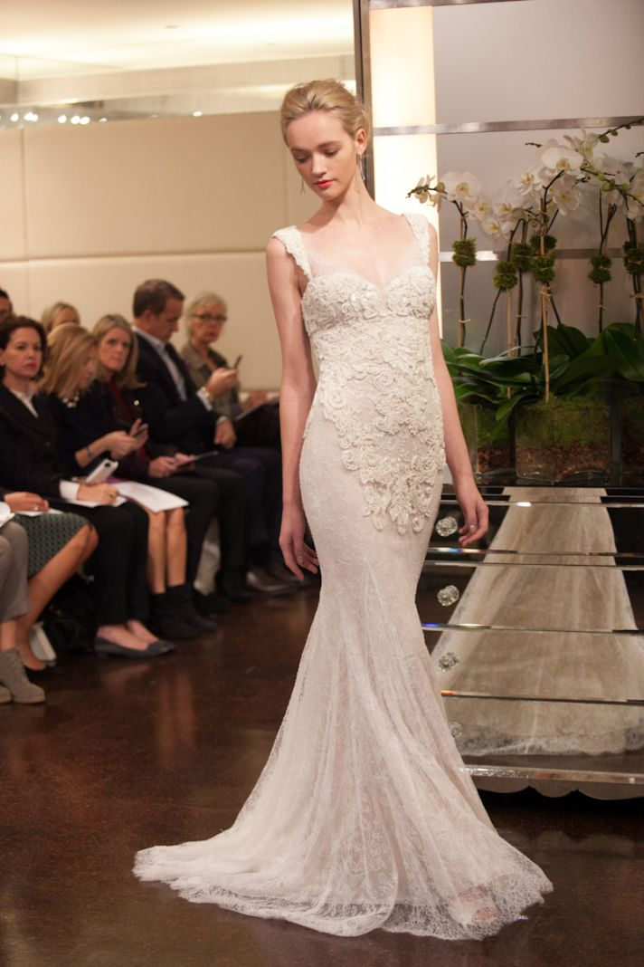 A celestial wedding dress collection for fall 2013 by for Wedding dress badgley mischka