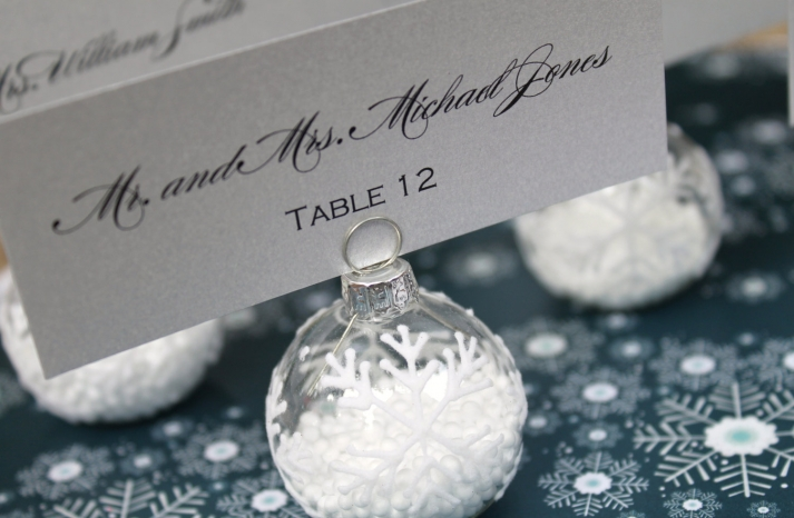 Handmade Weddings How to style a romantic winter wedding snowflake escort cards