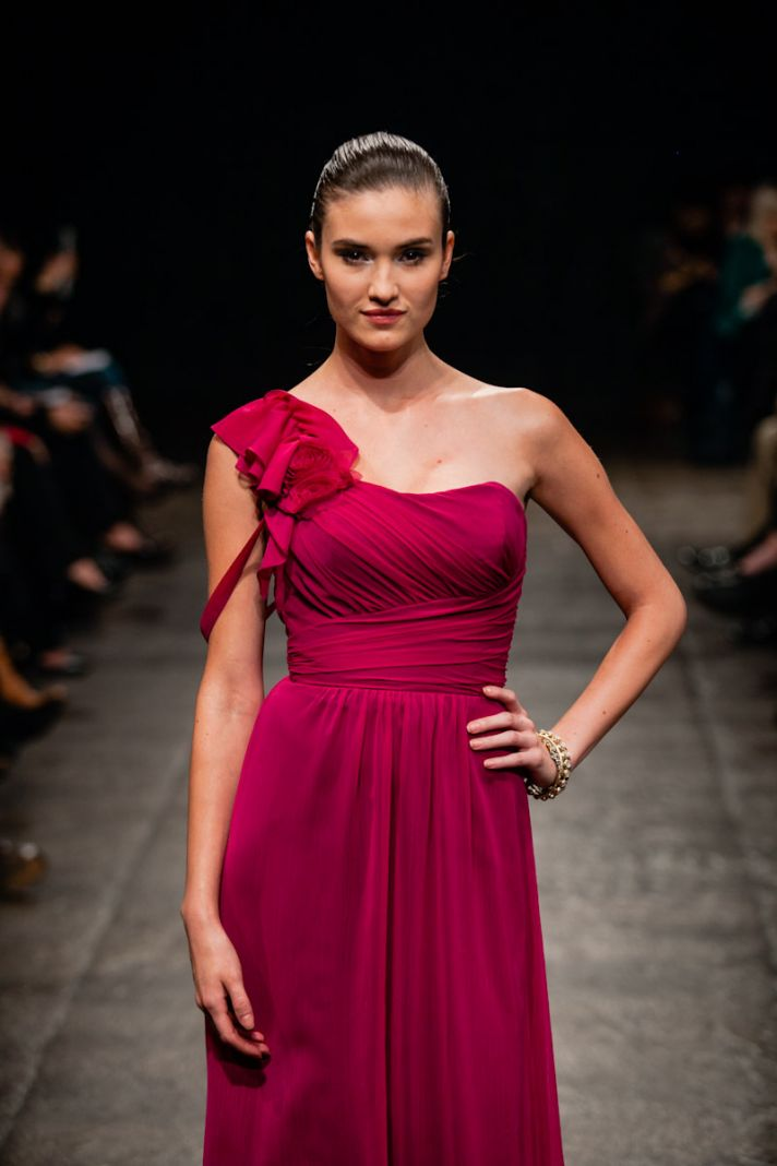 Spring 2013 bridesmaid dress Alvina Valenta bridal Scarlett Red 2