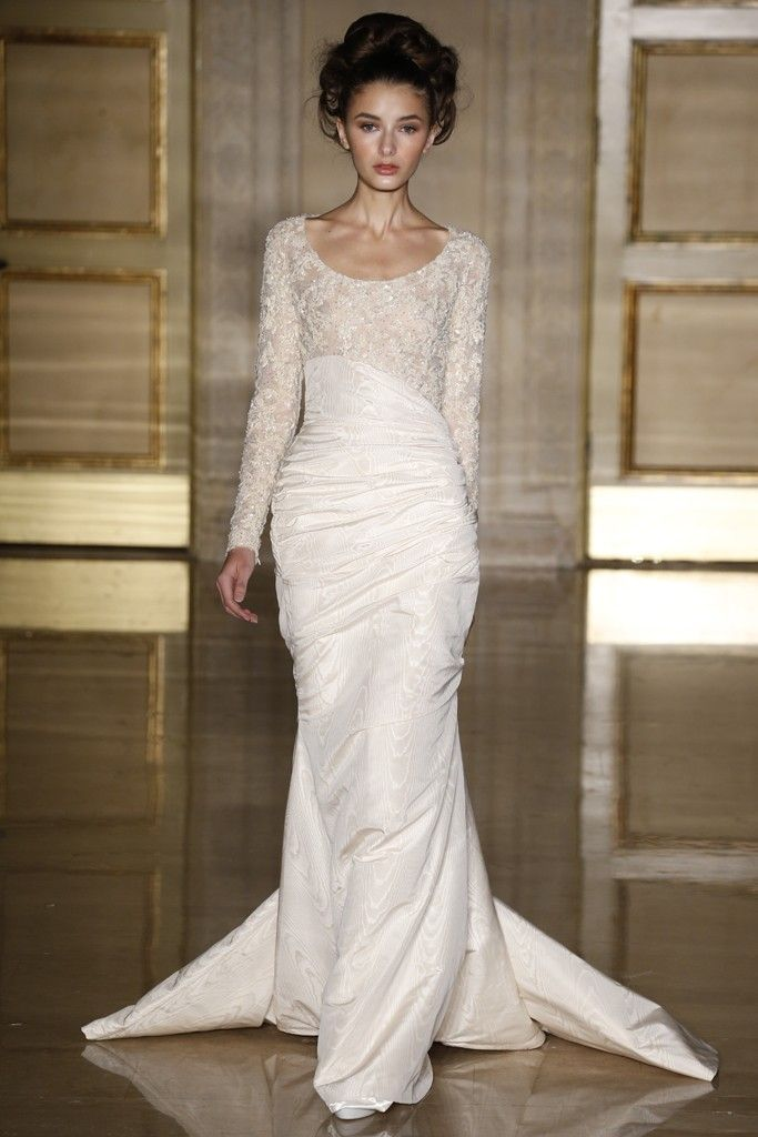 Fall 2013 Bridal: Douglas Hannant Takes Floral Embroidery to the Edge
