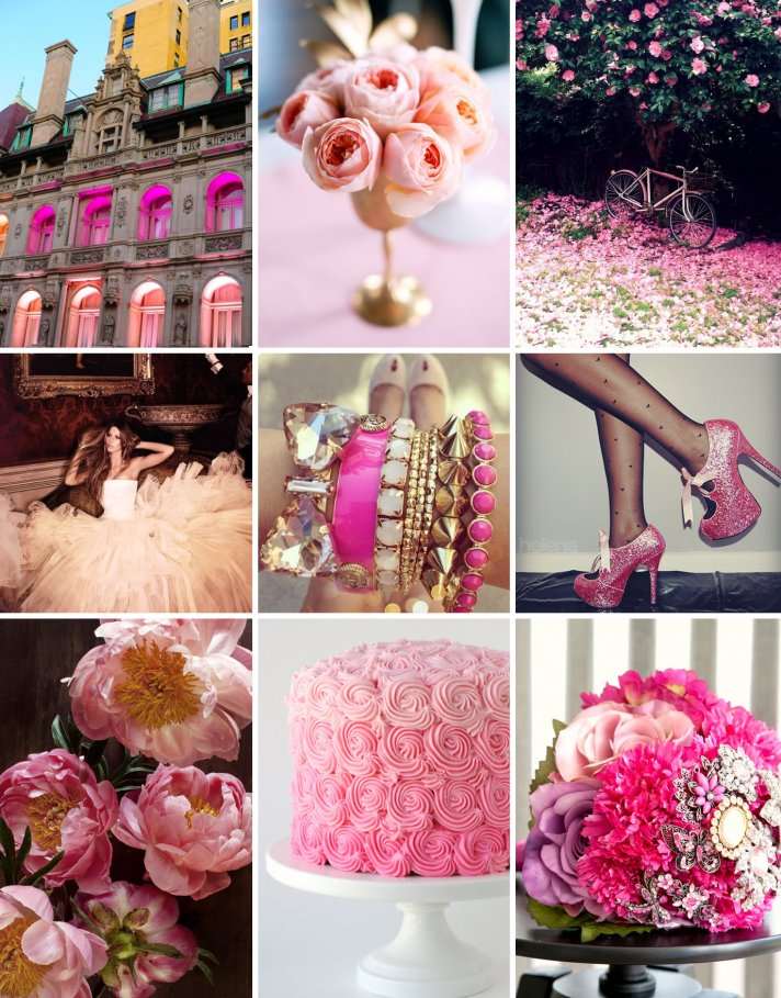 pink on pink wedding inspiration romantic wedding colors 3