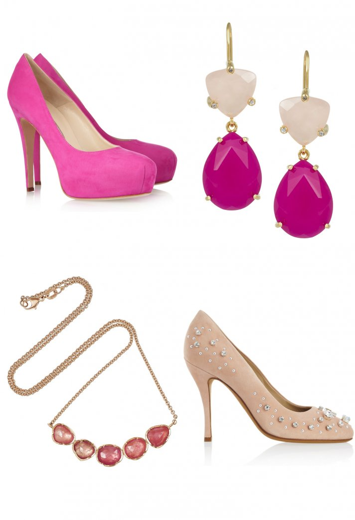 pink wedding accessories for the girly bride