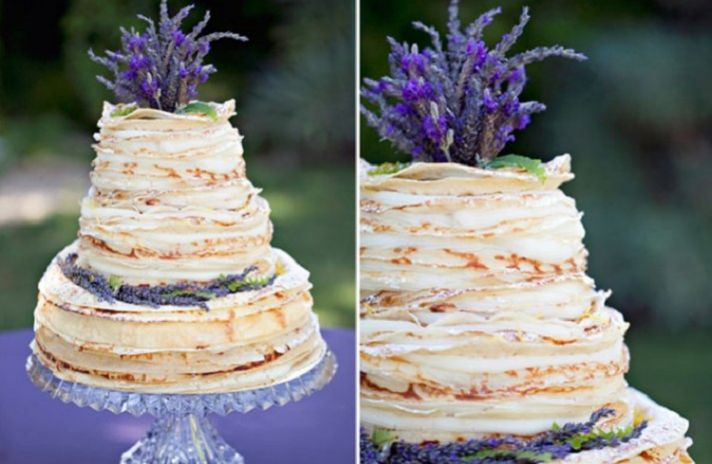 Wedding Cake Alternatives Layered Crepe Cake