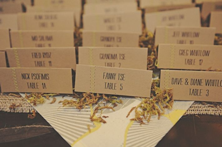 Creative Wedding Ideas Escort Cards at Reception 3 DIYs stiched 5