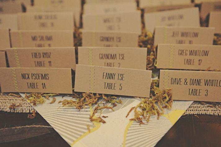 Creative Wedding Ideas Escort Cards at Reception 3 DIYs stiched 5