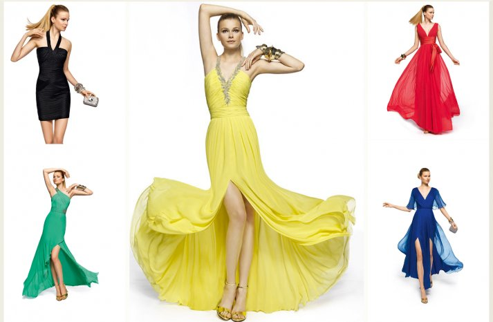 colorful bridesmaid dresses by Pronovias 3