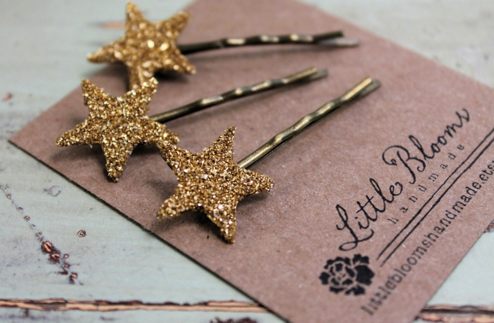 Glittery Gold Wedding Finds for Glam Handmade Weddings hair pins