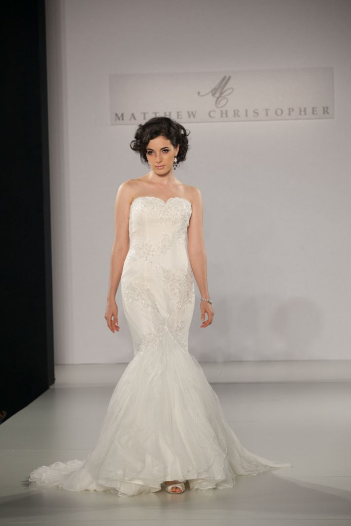 Fall 2013 wedding dress by Matthew Christopher bridal 8