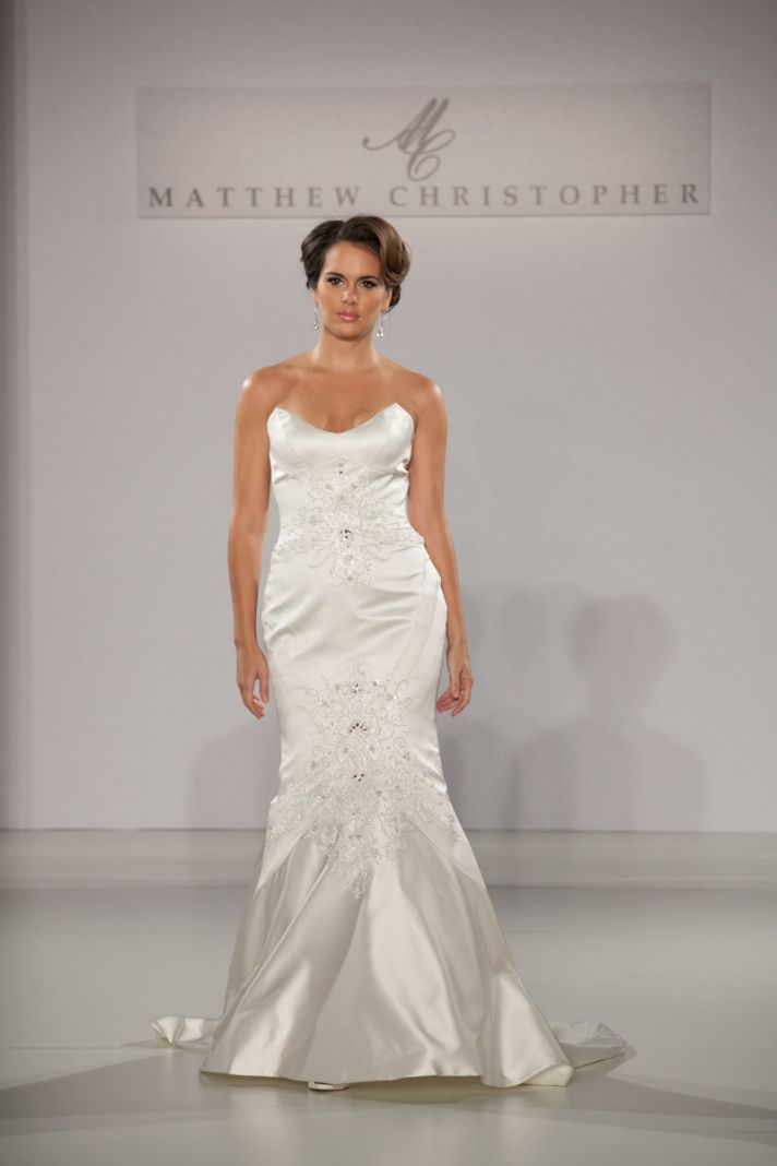 Fall 2013 wedding dress by Matthew Christopher bridal 3