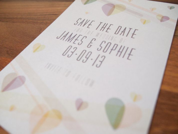 pastel winter wedding ideas handmade save the date