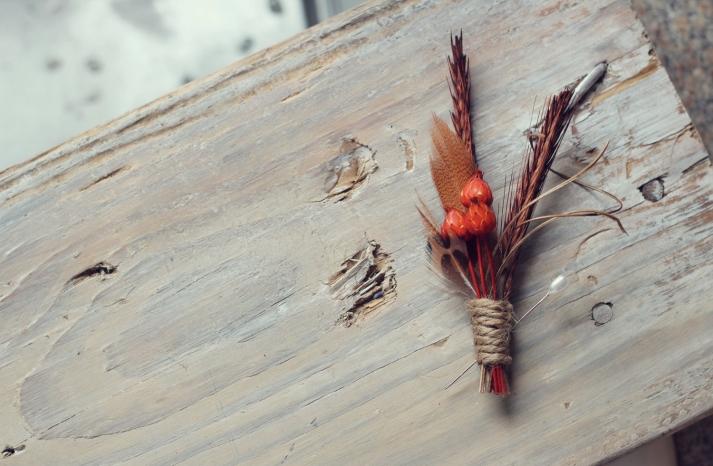 Rustic Wedding Ideas Woodland Weddings by Etsy fall boutonniere