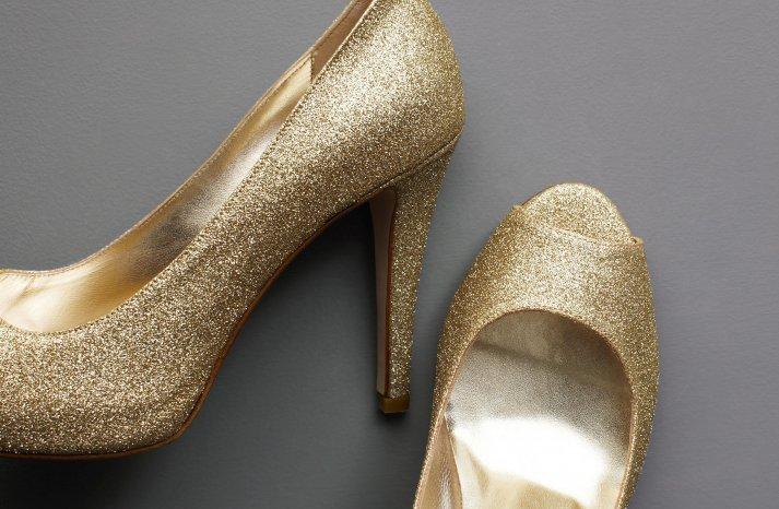 Wedding Accessories Inspiration Shimmery Bridal Heels 2