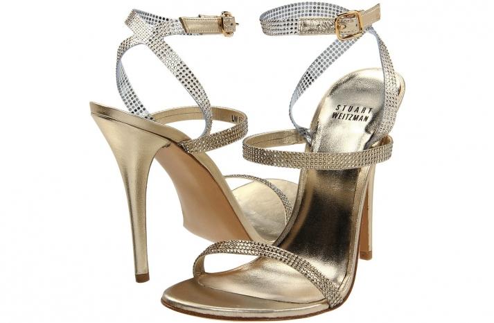 Wedding Accessories Inspiration Shimmery Bridal Heels Stuart Weitzman