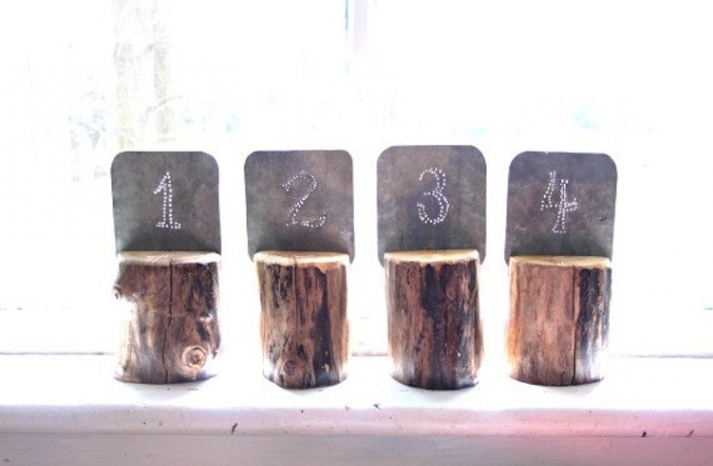 Unique Wedding Reception Table Numbers Handmade Weddings 16