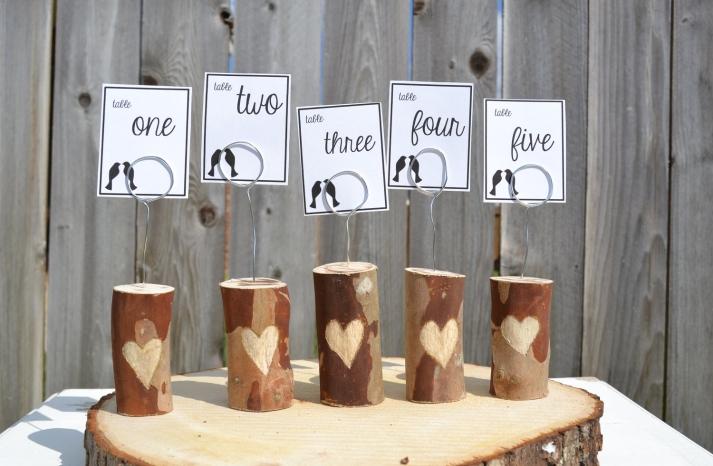 Unique Wedding Reception Table Numbers Handmade Weddings 7